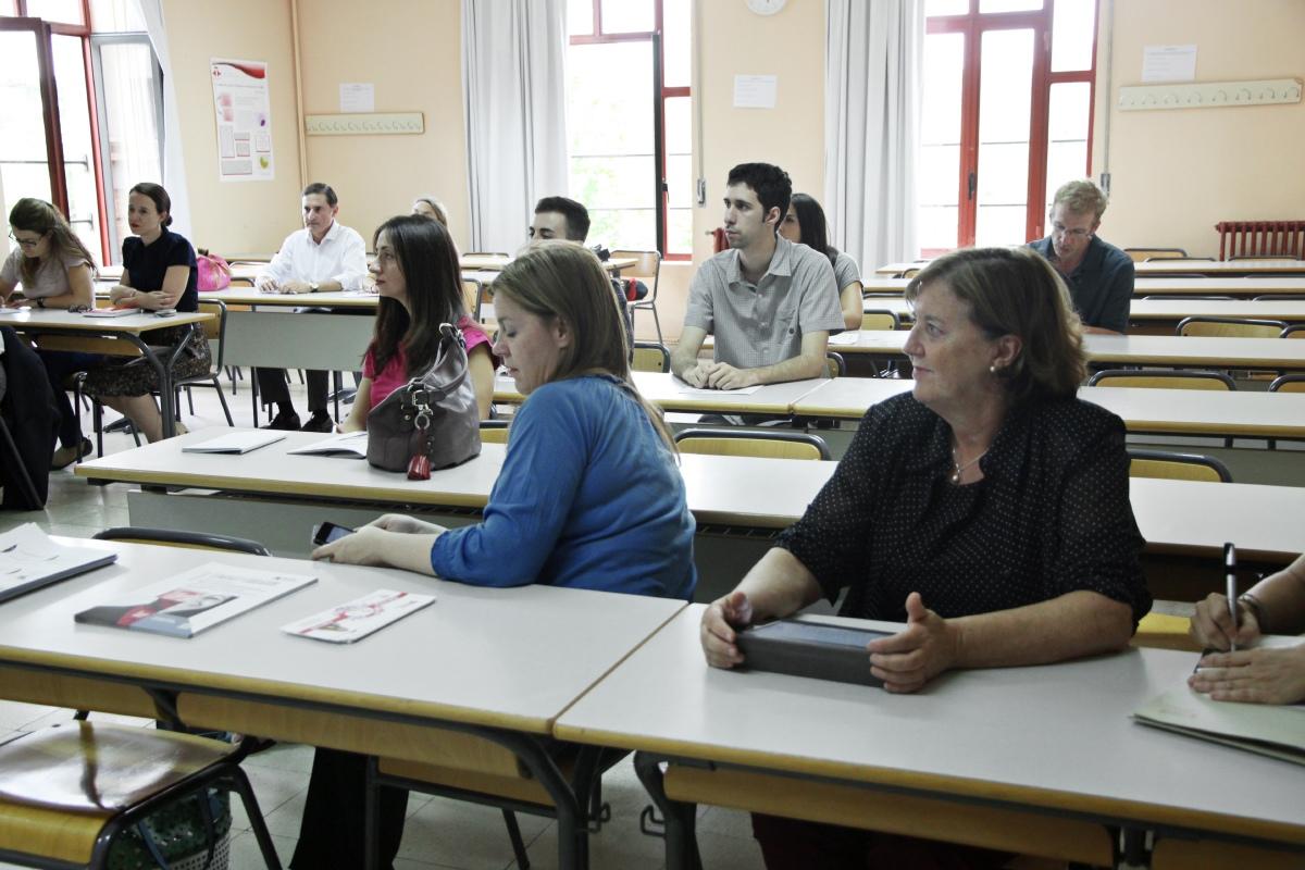 Asistentes a la lección magistral inaugural del Máster en Lingüística Aplicada a la Enseñanza de ELE del curso 2014/15