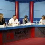 Flora Sánchez Castañón, directora de UniprexTV,  Jalis de la Serna, director y reportero de En Tierra Hostil,  Luz Aldama, directora de Programas de Actualidad Atresmedia, y  Belén Andueza, profesora de la Universidad Nebrija