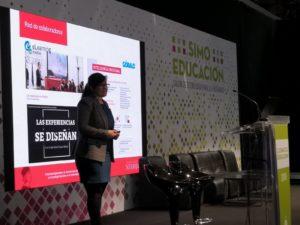 Leire Nuere, vicerrectora de Transferencia de la Universidad Nebrija, durante su presentación en SIMO 2018