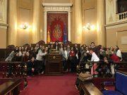 Los alumnos de Comunicación Corporativa, Protocolo y Organización de Eventos en su visita al Senado