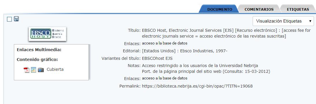 Ebsco Acceso Publicaciones Electronicas