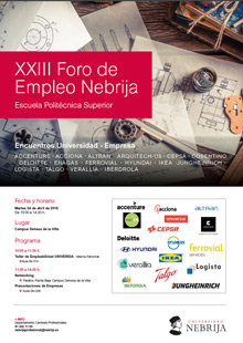 23rd Nebrija Employment Forum, Higher Polytechnic School