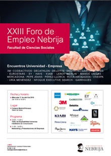 23rd Nebrija Employment Forum, Social Sciences School