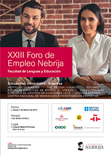 23rd Nebrija Employment Forum, Language and Education School