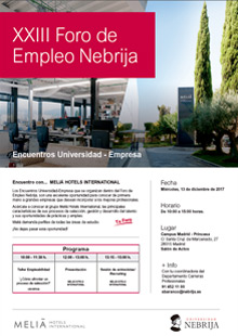 23rd Nebrija Employment Forum, Tourism